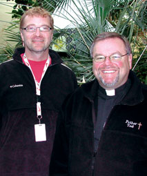 Father Ted Hughes, Regional Chaplain, Prairie Region (right) with Darren Friesen, from Saskatoon Community Chaplaincy