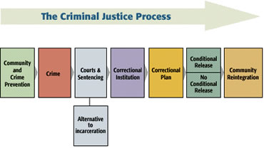 how do the components of the criminal justice system impact the overall criminal justice process